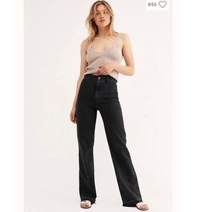 Free People- NWT Mindy Rigid Flare Jeans- Size 24